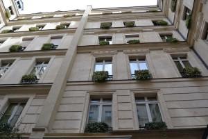 A courtyard facade