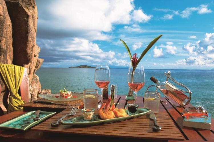 Sea food in the Seahorse Seychelles