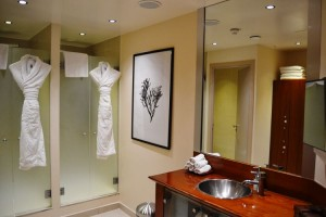 The ladies' changing room