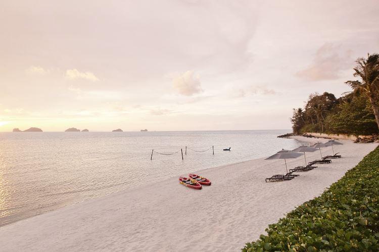 La plage du Conrad Koh Samui Thaïlande