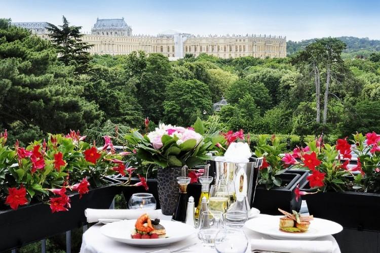 Une vue depuis le Trianon Palace