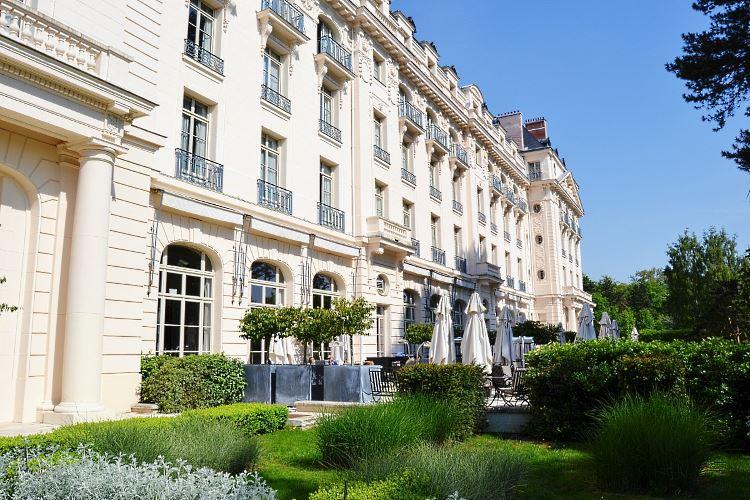 Trianon Palace facade and terrace