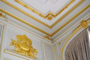 Gold leaf moldings