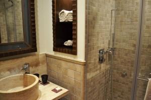 The stone bathroom