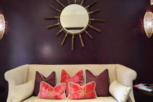 The elegant sofa