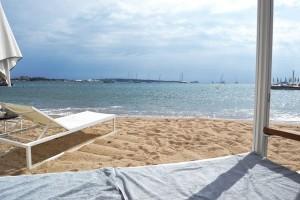 Vue depuis le lit de plage
