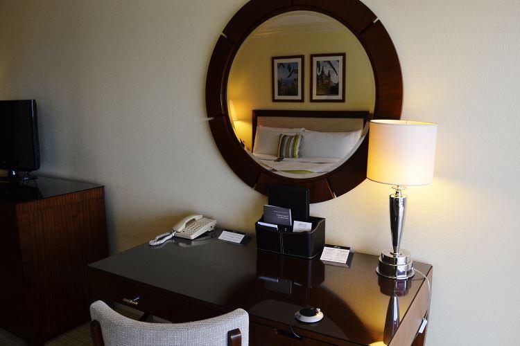 Elegant desk area