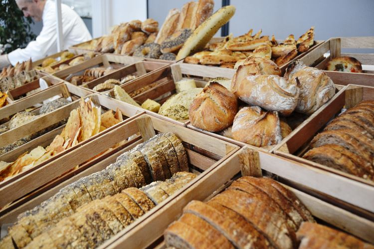 Organic breads assortment