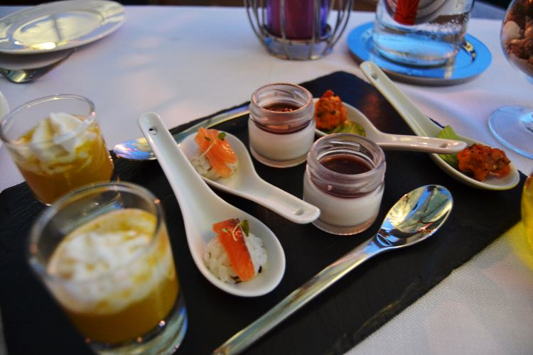 The refined plate of appetizers