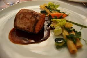 The veal tenderloin