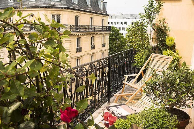 Terrasse de la suite Impériale de l'hôtel Le Belmont