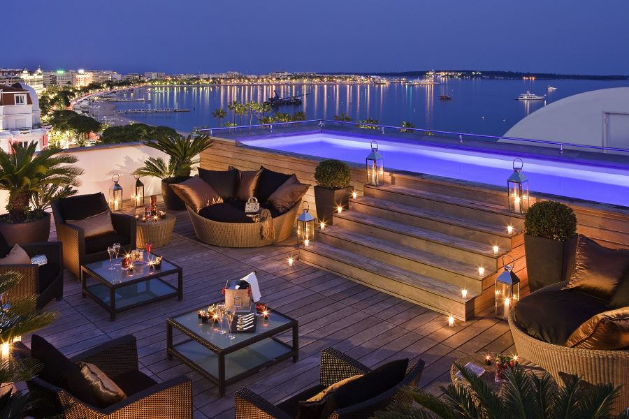 Penthouse Suite at the Majestic Barriere Cannes