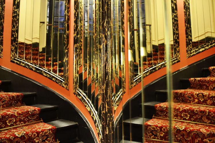 Luxury hotel stairs Le Belmont Paris