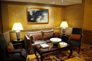 Private salon seating area