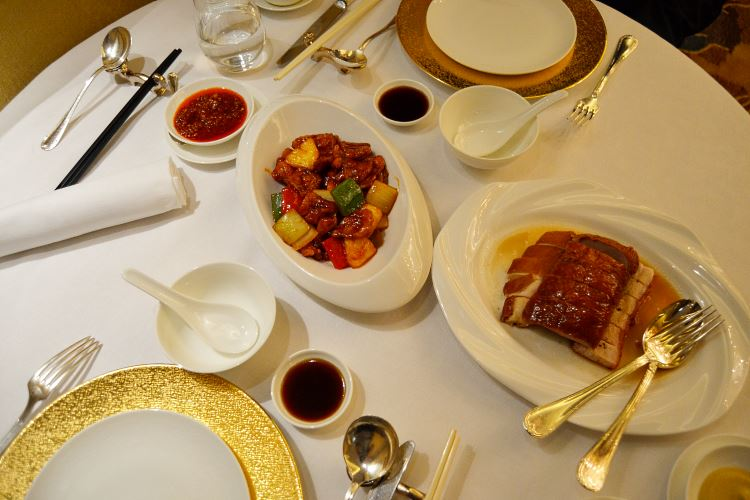 Sweet and sour pork and Cantonese meat