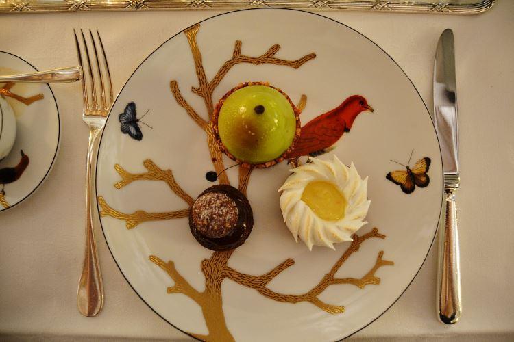 Desserts in Bernardaud dish