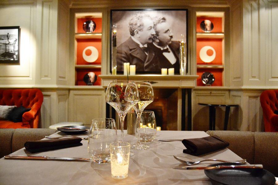Le Lumière restaurant at the Scribe Hotel Paris