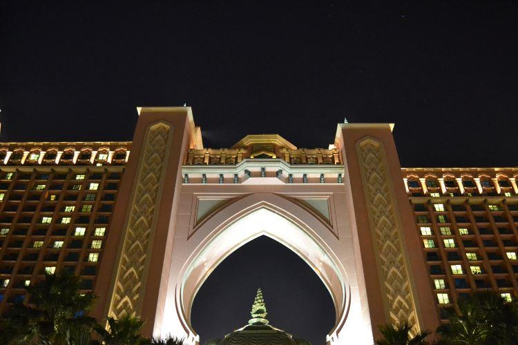 Atlantis The Palm Dubai by night