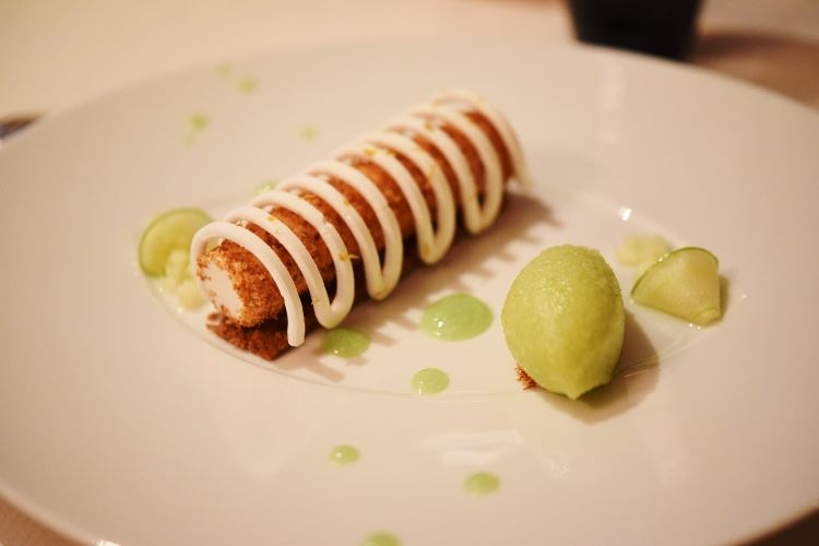 Dessert Granny Smith - Le Céladon Paris