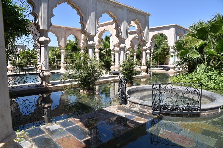 Hotel Palais Namaskar terrace pools