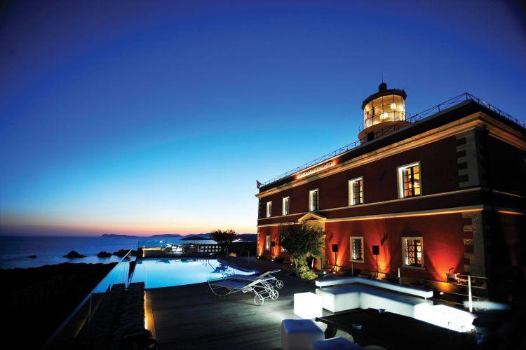 villa sardinia italy beach pool faro capospartivento