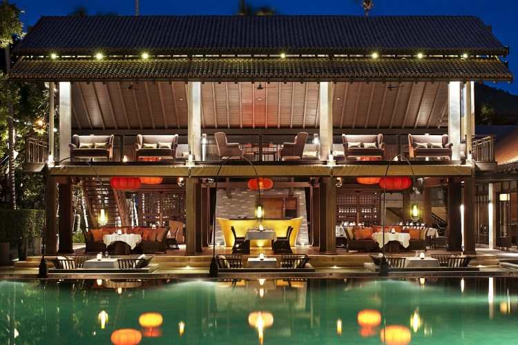 Le Meridien Koh Samui - Restaurant by night