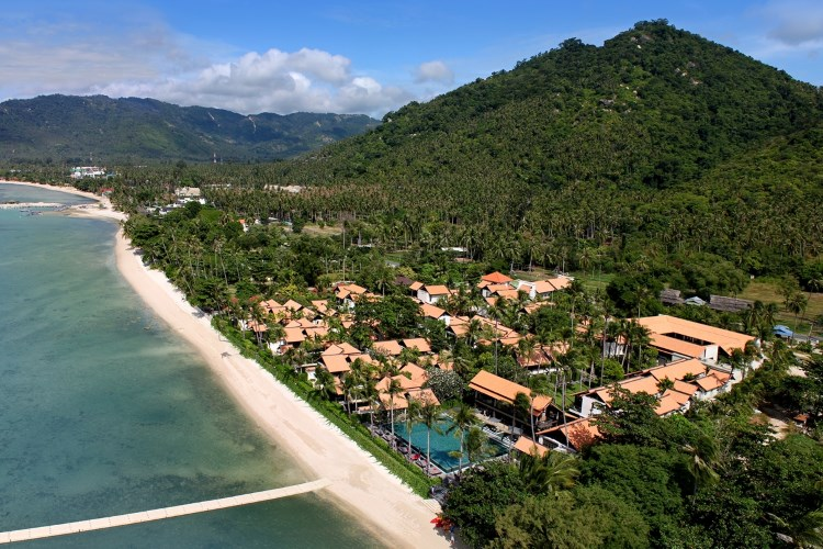 Sky view of Le Meridien Koh Samui