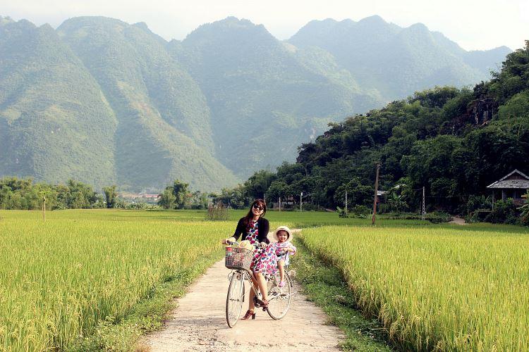 vélo Mai Chau Vietnam bike