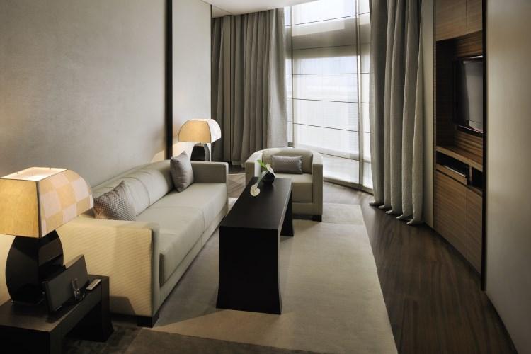 Armani Hotel Dubaï - Salon de la chambre Classique