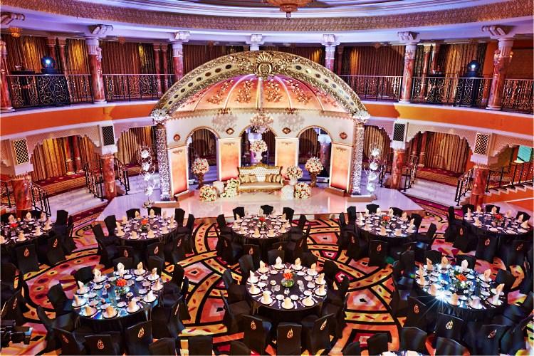 Burj Al Arab - Banquet dans la salle de réception Al Falak