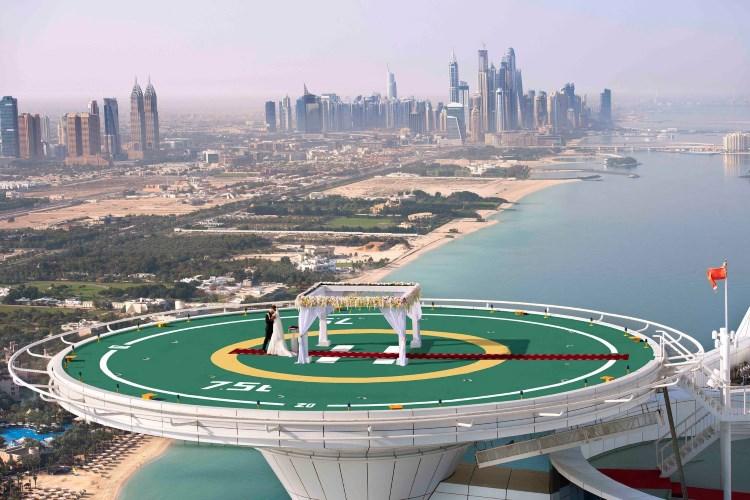 Burj Al Arab - Mariage dans le ciel