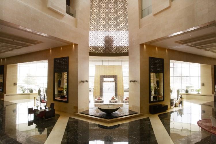 Raffles Dubaï - Le décor du lobby