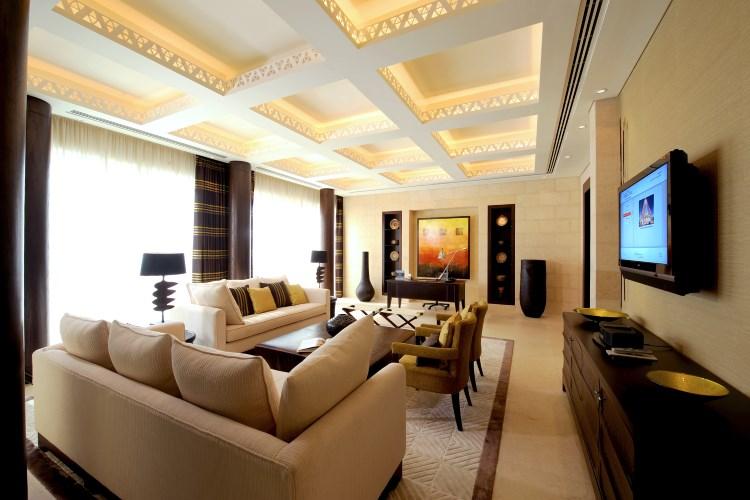 Raffles Dubai - Presidential Suite Earth Living Room