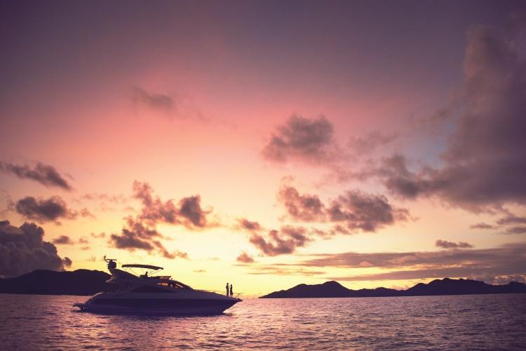 Raffles Praslin - Boat Sunset