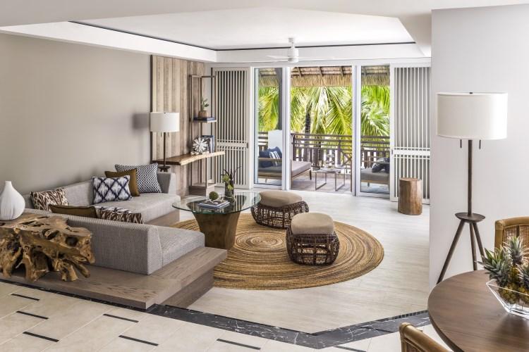 Shangri-La Île Maurice - Suite Deluxe - Salon - Aîle Frangipani