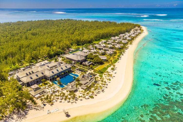 St Regis Mauritius - Aerial view of Le Morne Peninsula