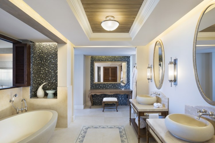 St Regis île Maurice - St Regis Grand Suite front de mer - Salle de bains