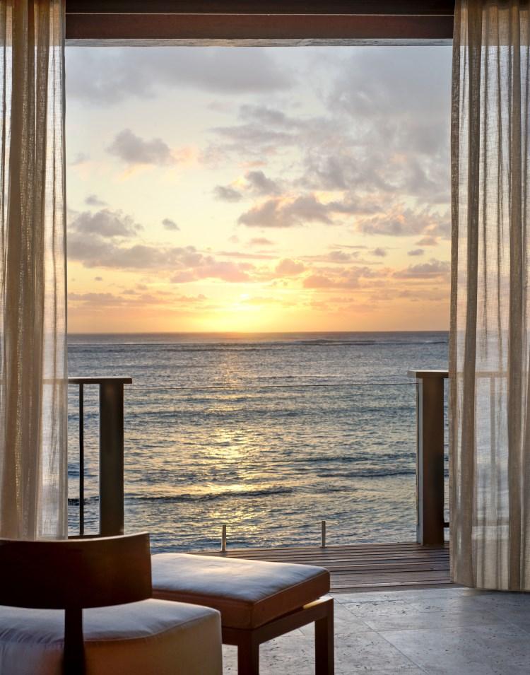St Regis île Maurice - Villa St Regis - Coucher de soleil
