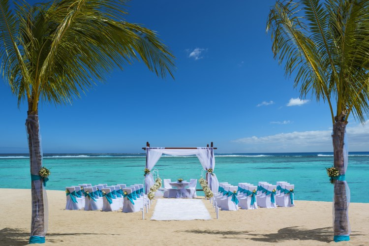 St Regis Mauritius - Wedding Arch on the beach