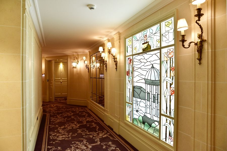 Beau Rivage Hotel Geneva - Stained glass windows